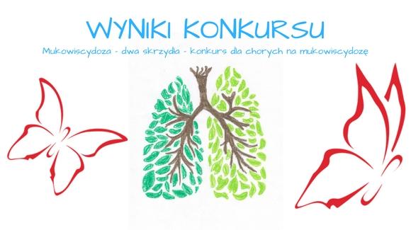 """Wyniki konkursu """"Mukowiscydoza – dwa skrzydła"""" – dla osób chorych na mukowiscydozę."""